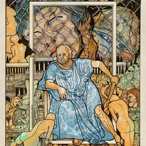 Skitsa Hippokrates Kos Vacondios 30X40
